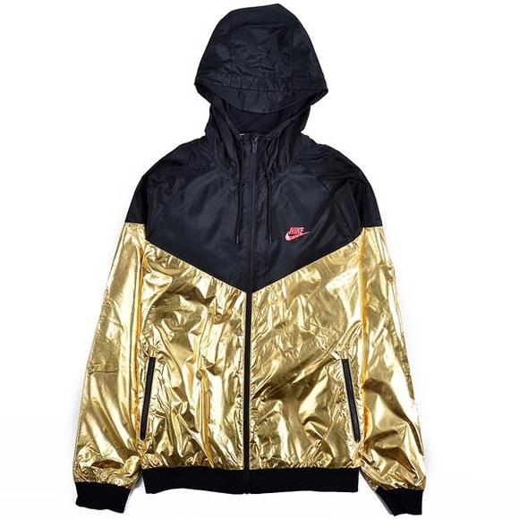 4726c8525316 Nike Men s Sz L Windbreaker Gold Black
